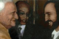 A Nuova Delhi con il Presidente dell'India V. V. Giri (1987)