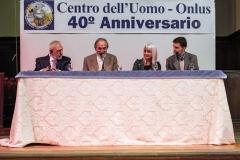 Conferenzieri: Pier Franco Marcenaro (Presidente - al centro), Antonio Casapieri (vice Presidente - a sinistra), Gabriella Gaia (al centro), Pier Luigi Arduini (a destra)