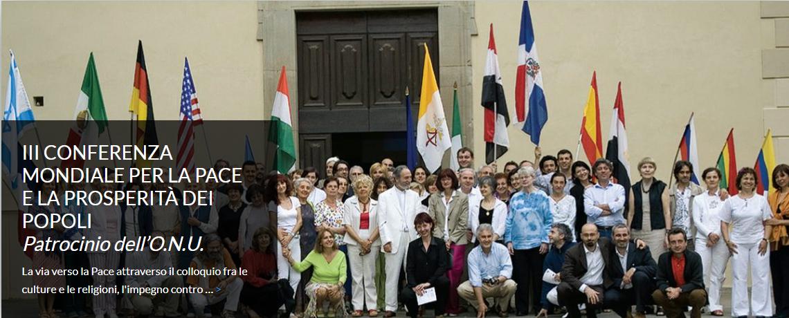 III CONFERENZA MONDIALE PER LA PACE E LA PROSPERITÀ DEI POPOLI<br><i>Patrocinio dell'O.N.U.</i>