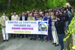 MARCIA CONTRO LE CONTINUE VIOLENZE SU DONNE INDIFESE 2014
